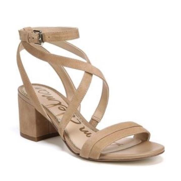 1bac9c27d34f Sam Edelman Sz 6 Sammy Block Heel Sandals Camel